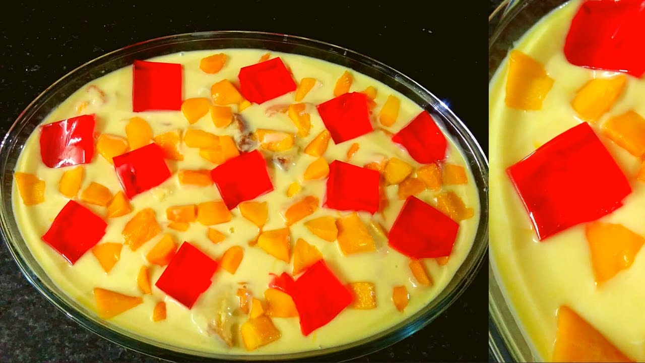 Mango Trifle Recipe || How to make jelly and custard with a complete tutorial