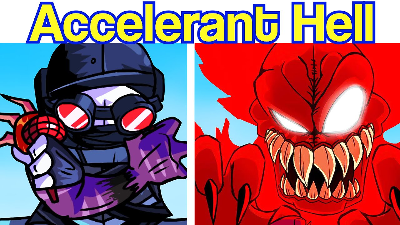Friday Night Funkin': VS Hell Accelerant Hank (MAG Hank, Tricky, Hellclown, Deimos, Sanford) FNF Mod - download from YouTube for free