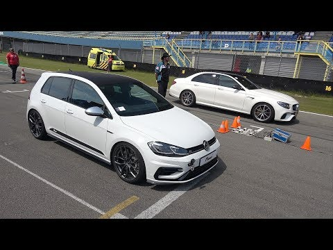 480HP Volkswagen Golf 7.5 R Stage 3 vs 810HP RENNtech Mercedes-AMG E63 S