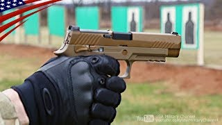 米軍兵士が新しい9mm拳銃「M17」で射撃テスト