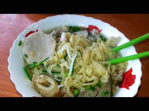 Asian Street Food - Cambodian Popular Breakfast - Authentic Cambodian Noodles