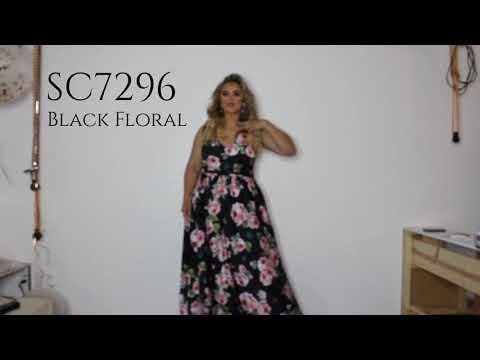 black-floral-plus-size-a-line-formal-dress-sc7296-by-sydney's-closet