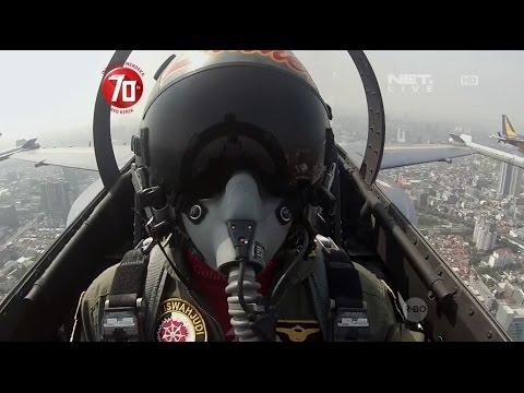 Flypast Parade Pesawat Tempur TNI AU - Upacara Hari Kemerdekaan RI Ke-70