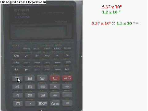 Scientific Notation On A Casio Calculator Youtube