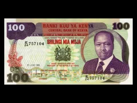 All Kenyan Shilling Banknotes - 1966 to 1995 in HD