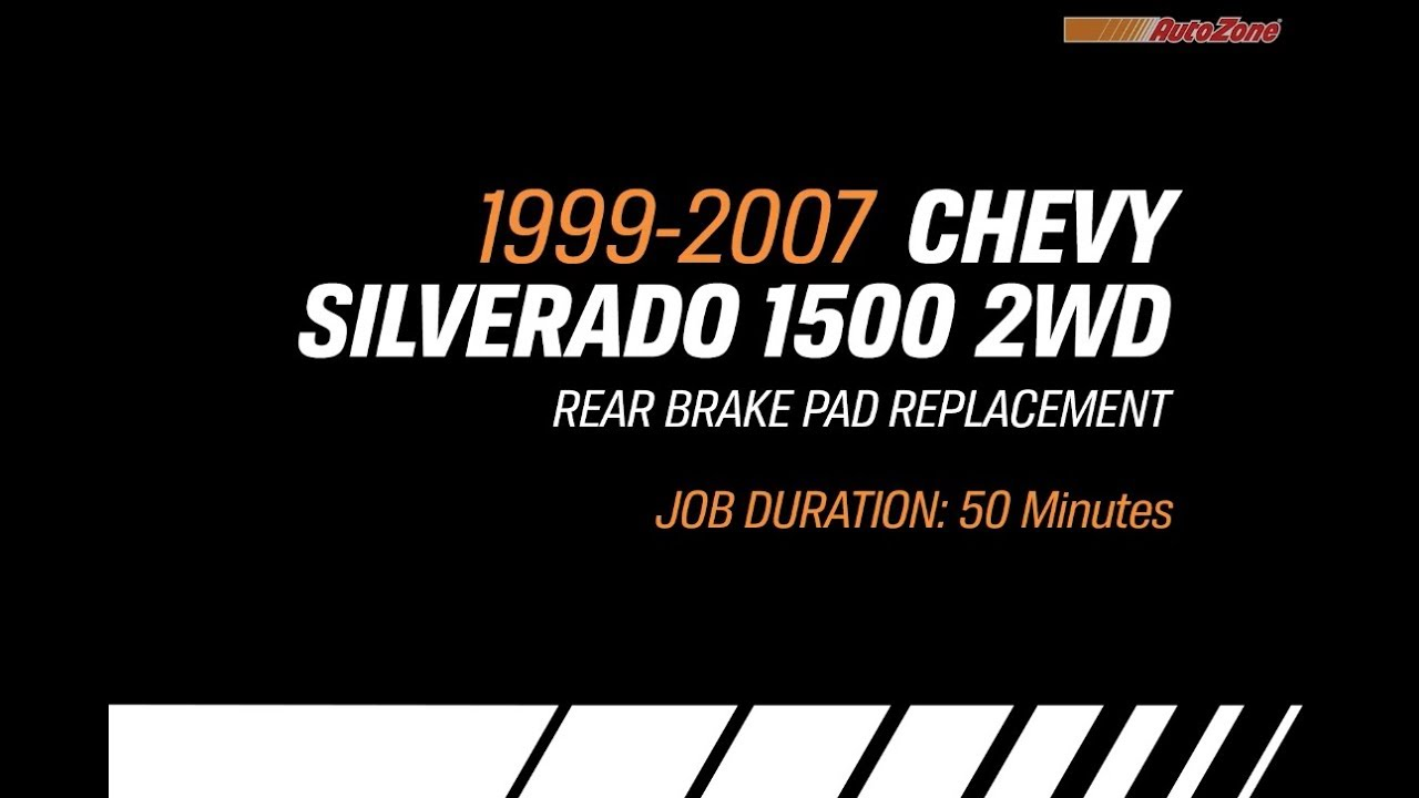 How To Change Rear Brake Pads For Chevy Silverado 1999 2007 Make Reassembe A 1992 Ford E250 Drum Do You Have Diagram Model Series