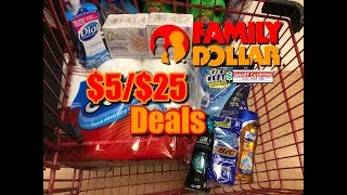 Under $10 Family Dollar Deals // $5/$25 In Store Couponing // Shop with Sarah // 5-22