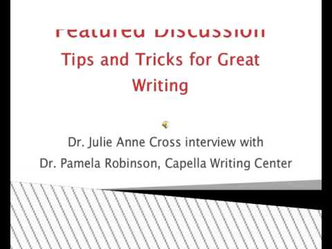 ISPI Capella Chapter Featured Discussion Writing Center v1