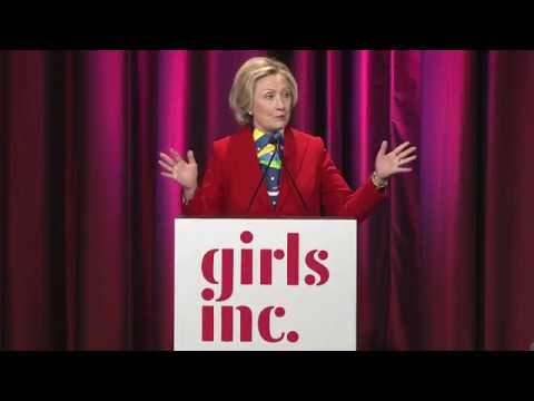 Hillary Clinton delivers her speech at Girls Inc. 03/07/2017