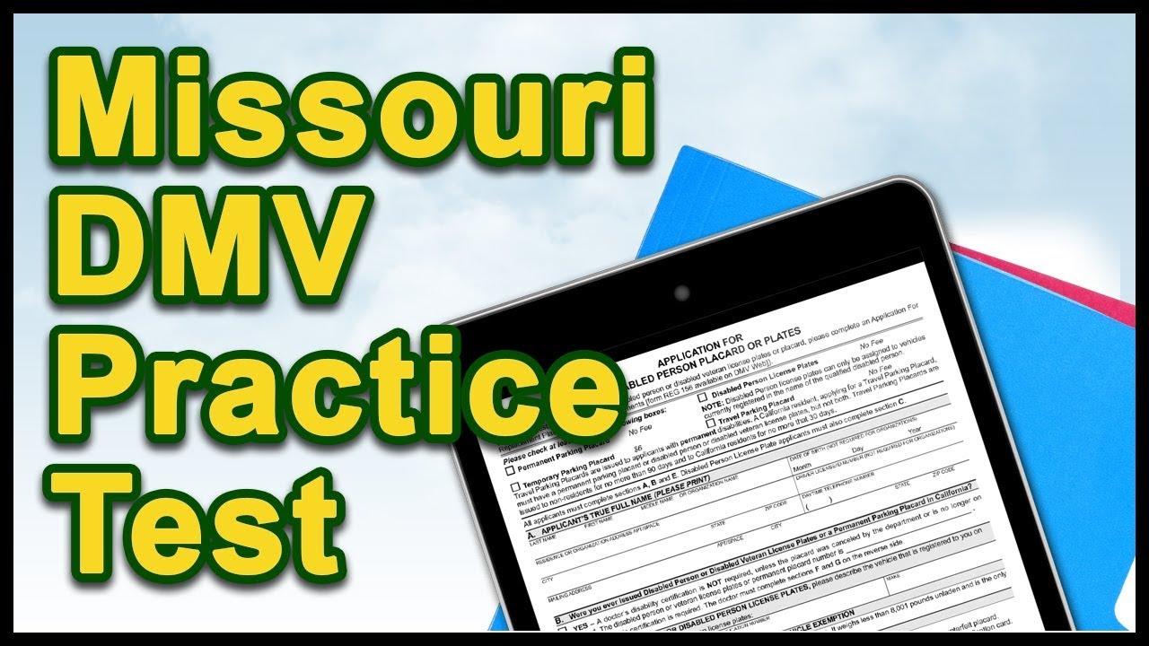 Missouri dmv practice test youtube nvjuhfo Image collections