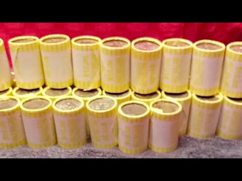 Live !!! Unrolling $330 In Half Dollars!! coin roll hunting!!great video!!