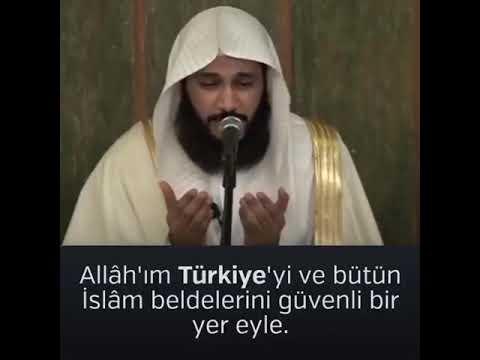 Kâbe İmamı Abddurrahman El Ussi Türkiye Için Dua Etti.