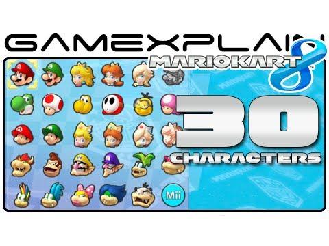 Mario Kart 8 Unlock All Secret Characters Wii U Youtube