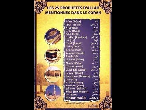 Chronologie Historique des différents Prophètes/Messagers dans l'Islam (An-Nabīyīn/Al-Mursalīn).
