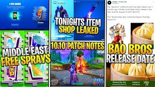*NEW* Fortnite Update! STARWALKER SKIN SET TONIGHT, FREE Middle East Sprays, BAO Bros Release Date!
