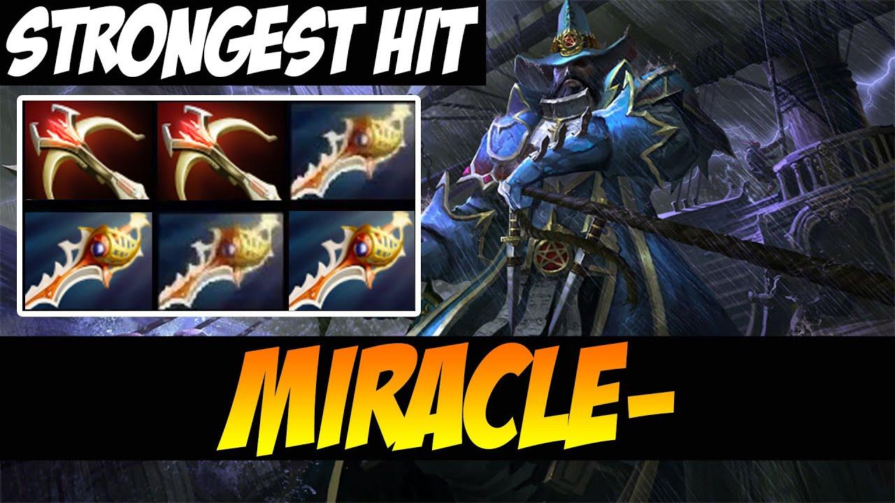 strongest hit ever miracle kunkka dota 2 youtube