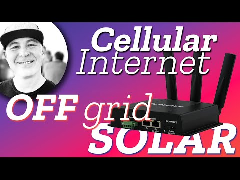 Solar Powered Cellular Internet WiFi Router for Off Grid Applications