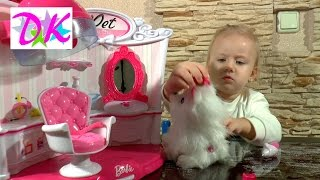 Кукла БАРБИ Салон Красоты для животных | Barbie Pet Salon обзор кукол Барби животные Салон красоты