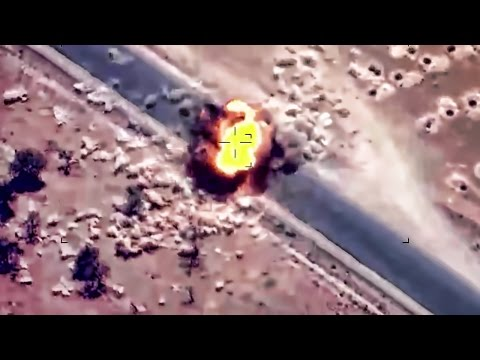 ISIS Truck Gets Clocked By Guided Bomb And Tree