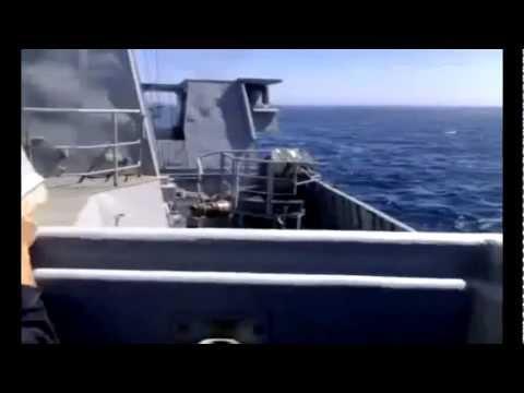 FAR-MAROC.ON.MA : Royal Saudi Navy - Firing an Exocet MM40 Block II