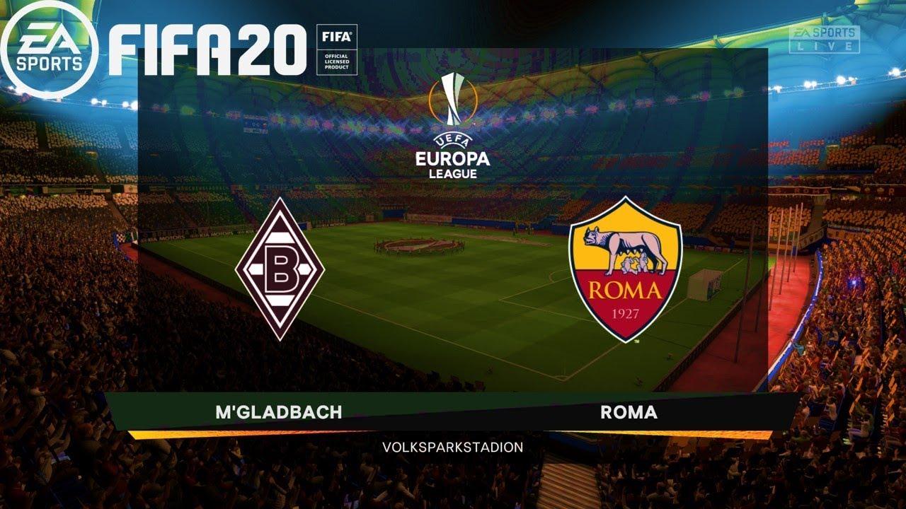 FIFA 20 | UEFA Europa League 19 20 M'Gladbach vs AS Roma | Gameplay PC