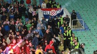 Troubles during Bulgaria - Croatia 10.10.2014