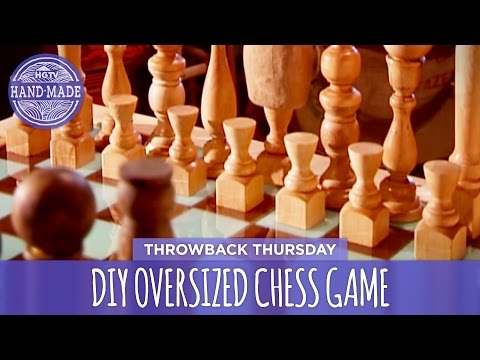 DIY Oversized Chess Game - Throwback Thursday - HGTV Handmade
