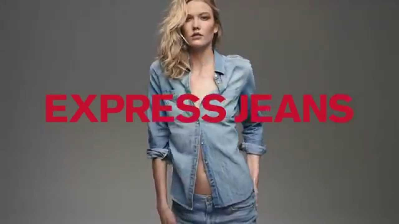 EXPRESS 'Fit for You' Denim Campaign ft. Karlie Kloss - YouTube