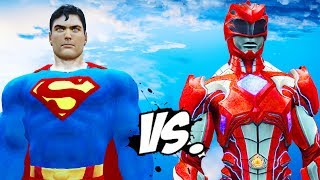 Superman VS Red Ranger (Power Rangers 2017) - EPIC BATTLE