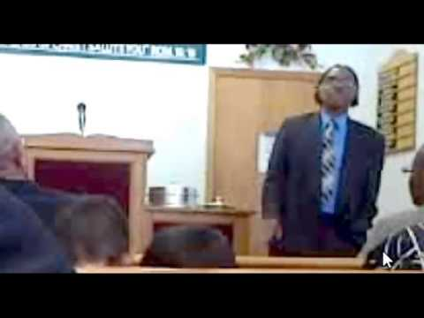 Preacher preaching against homosexuality