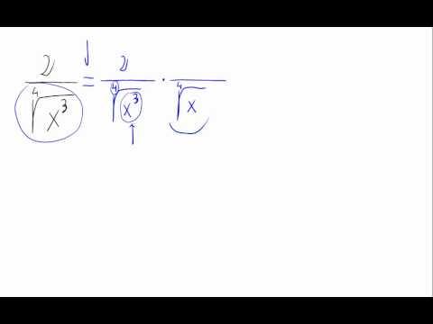 Racionalizar - Raíz cuarta en denominador - YouTube