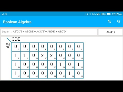 Boolean Alge : K-Map solver android app | how to use K-Map solver in on