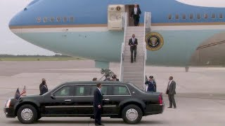 Top 10 Airlines - President Obama Arrives at MacDill AFB in Air Force One (Sep, 2014)