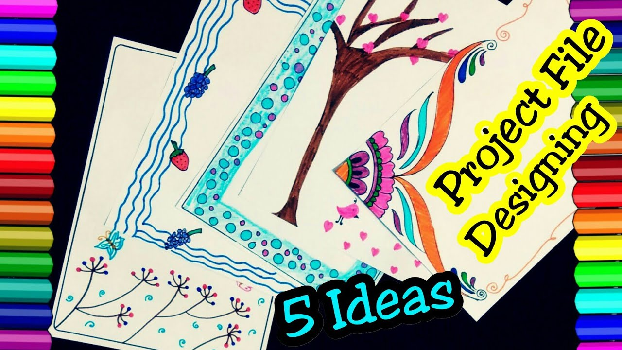 Beautiful border designs on paper project design how to decorate file also rh youtube