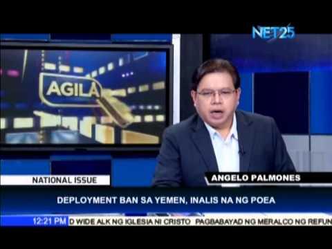 POEA Lifts Deployment Ban to Yemen