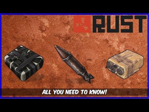 RUST Tips - Raiding Explosive Charts + C4,Satchel,Rocket, Damage