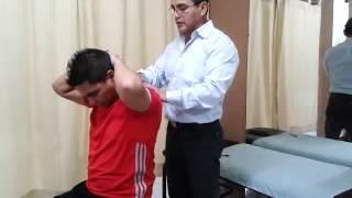 Repeat youtube video Ajuste Quiropractico Dorsal QUIROGYM PERU