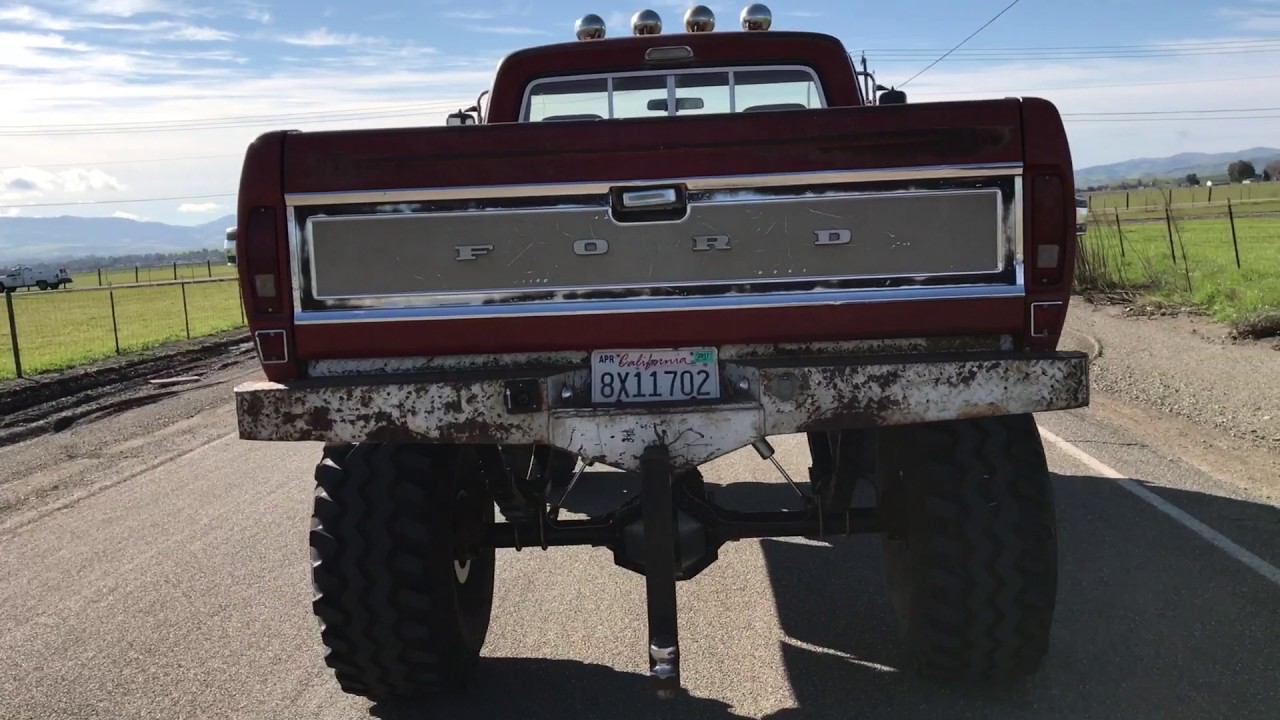 1972 Ford F 250 High Boy 12 Lift On 44s Walk Around And Short 1971 4x4 Highboy Drive