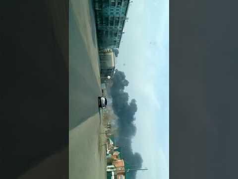 Пожар в военной части КСК Чита
