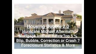 Housing Bubble 2.0 - Hurricane Aftermath - MTG Rates Hit 5% - Blip, Bubble, Correction or Crash ?