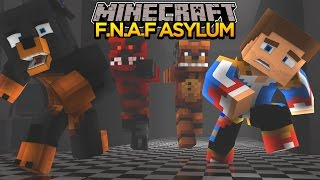 Minecraft - Donut the Dog Adventures -FNAF ASYLUM #5 - FOXY & FREDDY CATCH DONUT & DONNY!!!!