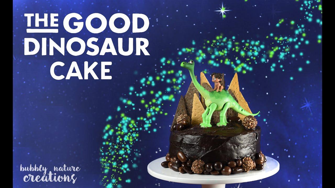 The Good Dinosaur Cake How To Make Easy Youtube