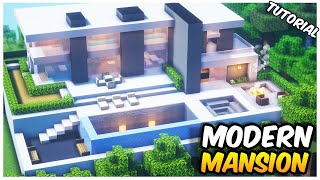Minecraft: Modern Mansion Tutorial | How to Build in Minecraft (#1)