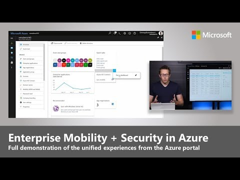 The unified Enterprise Mobility + Security management experience in the Azure Portal