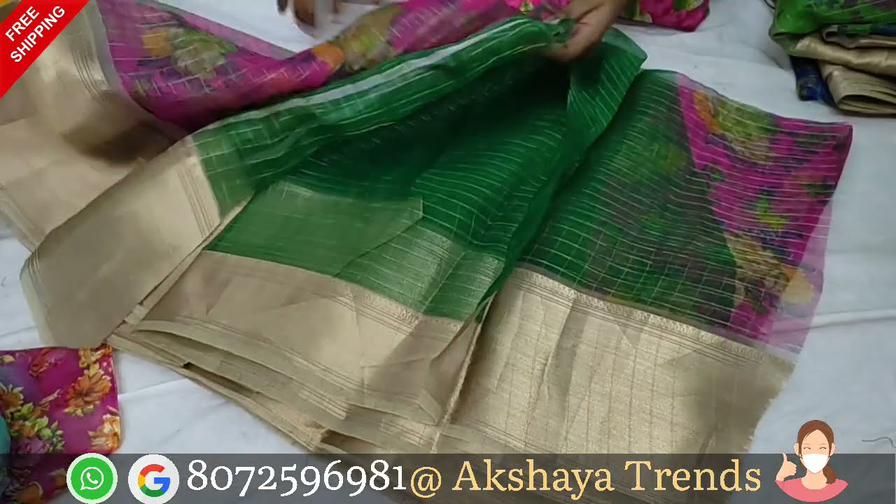 jointsaree 435 FREE SHIP / organza / cotton sarees /brasso cotton