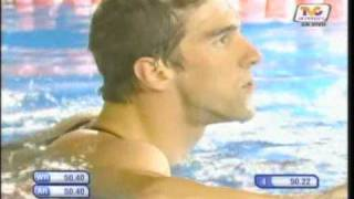 Phelps new world record 2009 100m butterfly