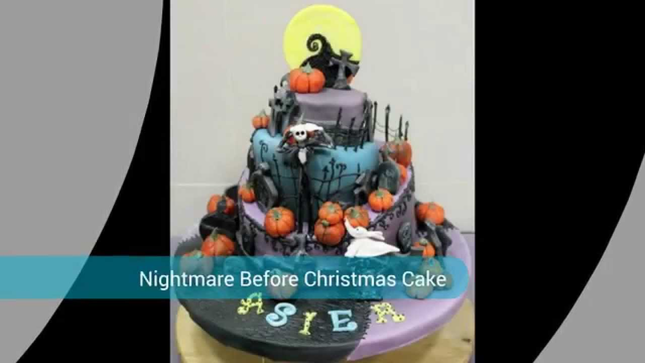 Coolest Nightmare Before Christmas Cake YouTube