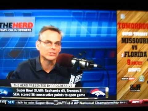 2014 SUPER BOWL 48 XLVIII POST GAME REACTION ON THEHERD W/ COLIN COWHERD