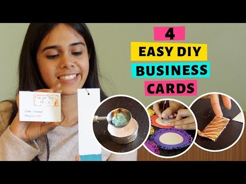 4 Easy DIY Business Card Ideas | DIY Adventures of Vibha and Itsy thumbnail