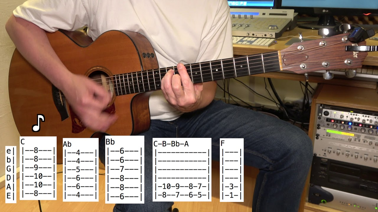 Paranoid Android Acoustic Guitar Radiohead Chords Youtube